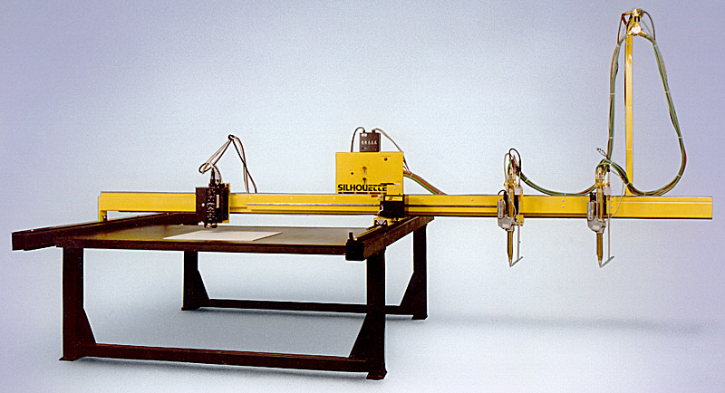 Modern Cantilever Style Cutting Machine - Click for larger view